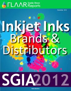 SGIA 2012 Inkjet Inks Brands & Distributors