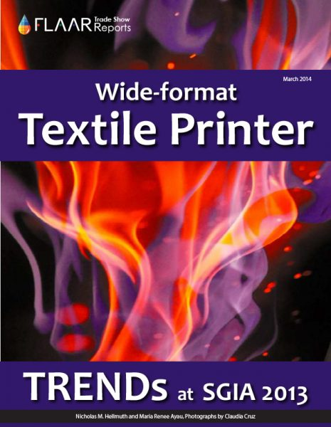 Textile TRENDs observed at SGIA 2013