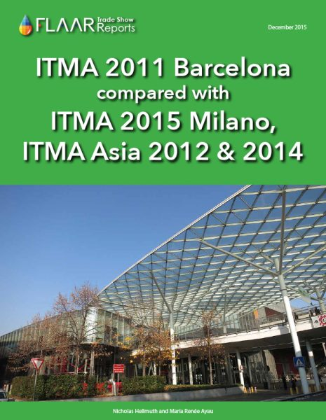 ITMA 2011 Barcelona compared with ITMA Milano 2015, ITMA Asia 2012 & 2014