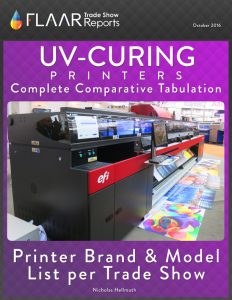 UV-Curing Printers Complete Comparative Tabulation