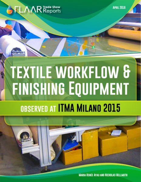 ITMA Milano 2015 Textile Workflow and Finisging Equipment