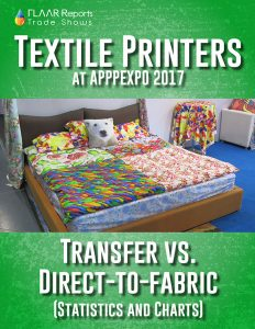 Comparison of Textile Printers by Printing Method exhibited at APPPEXPO 2017 - Front Cover