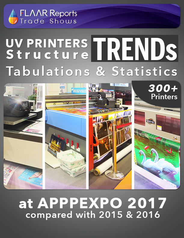 APPPEXPO 2017 UV-Curing Structure tabulation statistics & TRENDs FLAAR Reports
