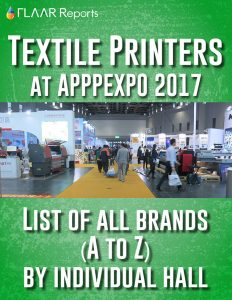 Brands from A to Z of Textile Printers at APPPEXPO 2017