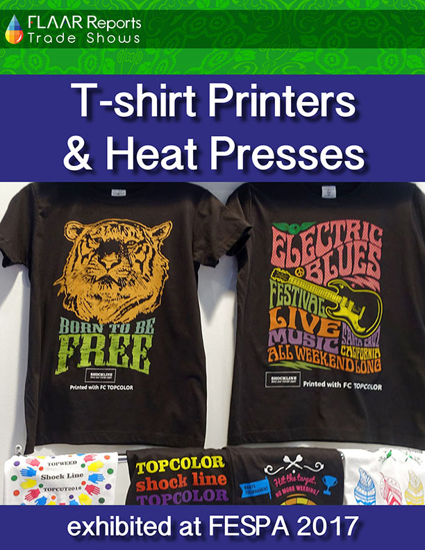 T-shirt Printers and Heat Presses at FESPA 2017 - Front Cover