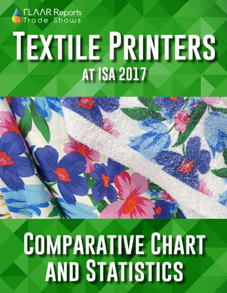 Comparison of Textile Printers exhibited at ISA 2017 - Front Cover