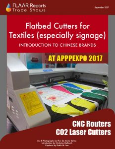 Flatbed cutters for Textiles (especially signage) at APPPEXPO 2017 - Front Cover