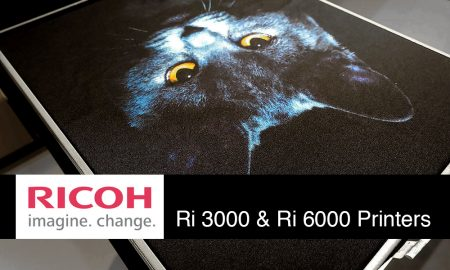 Sample printed with Ricoh Ri 6000 desktop printer at FESPA Hamburg 2017. FLAAR Photo Archive.