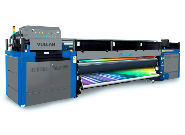 ColorJet VULCAN roll-to-roll UV-curing printer