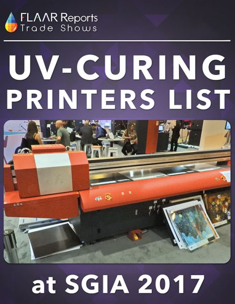 SGIA-2017-FLAAR-Reports-UV-Curing-printers-brands-models-list-Front-Cover