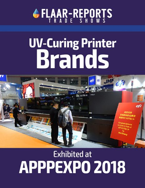 APPPEXPO-2018-UV-curing-Printer-Brands-by-Hall-FLAAR-Reports - Fron Cover