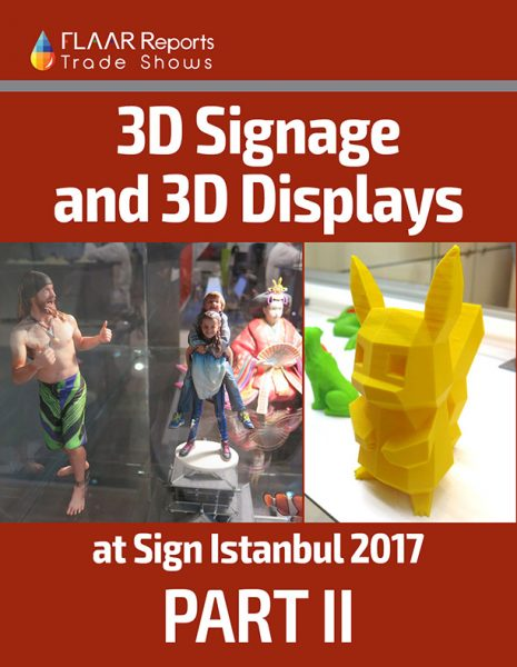 3D signage and displays with different types of 3D technology exhibited at Sign Istanbul