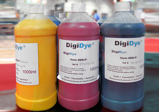 DigiFab DigiDye ink bottles.