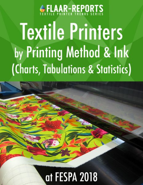 FESPA-2018-textile-printer-TRENDS-statistics-charts-printing-method-ink-type - Front Cover