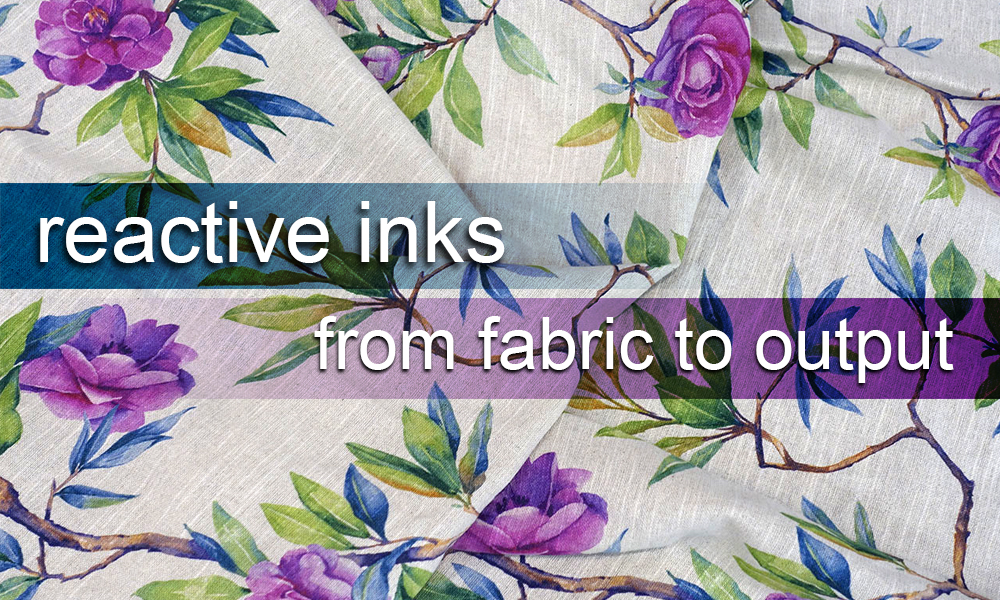 reactive ink for direct textile printing