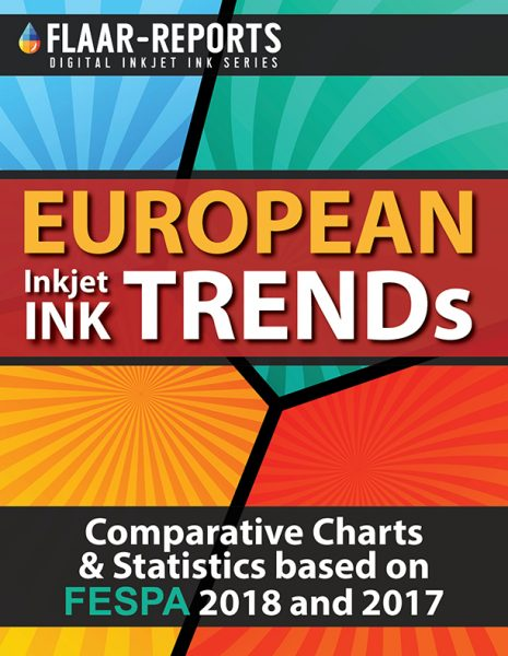 FESPA-Berlin-2018-European-FLAAR_Reports-inkjet-ink-comparative-charts-statistics-TREND - Front Cover