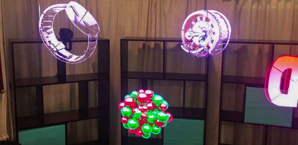 LED fan display exhibited at APPPexpo 2018.