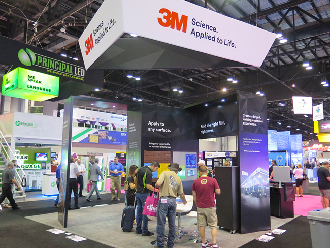 3M booth in ISA 2018.