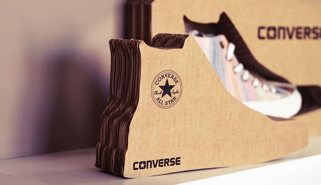 Converse-cardboars-honeycomb-display-shoes