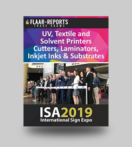 ISA_2019_FLAAR-REPORTS_UV_Textile_Solvent_Inkjet_Ink_Media_Substrates_Finishing_Equipment_based_2018-cover