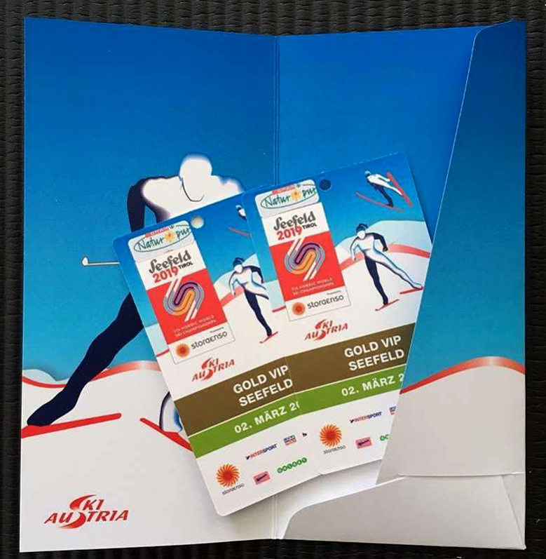 Seefeld Gold VIP tickets. Photo courtesy of www.seefeld.com.