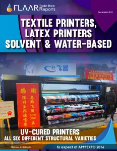 APPPEXPO 2016 UV textile solvent latex exhibitor list preview based on 2015 set UV