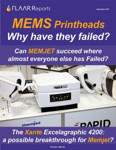 MEMS printheads page array page width MEMJET potential succeed 42 inch wide format inkjet label printer review