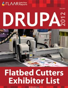 Drupa 2012 CNC routers XY flatbed cutters images preparing for exhibitor list drupa 2016