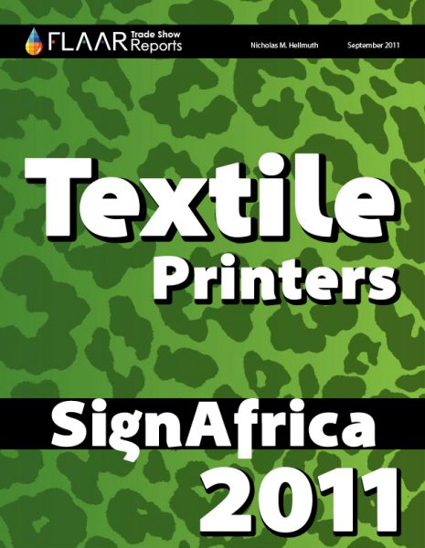 Textile printers exhibited at Sign Africa 2011