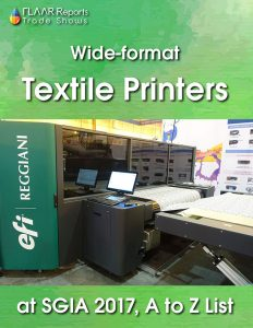 Textile Printers at SGIA 2017, brands, models and websites (from A to Z) - Cover