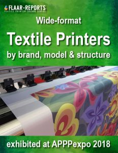 APPPexpo-2018-FLAAR_Reports-wide-format-textile-printers-by-brand-model-structure - Front Cover