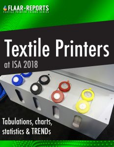 Wide-format textile exhibited at ISA 2018, tabulations, charts, statistics and TRENDs - Front Cover