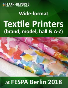 FESPA-2018-FLAAR_Reports-textile-printers-hall-brand-model-a-to-z - Front Cover