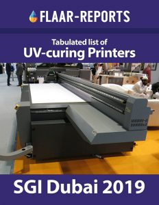 SGI-Dubai-2019-UV-curing-printers-tabulated-list - Front Page