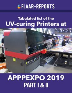 APPPEXPO-2019-UV-curing-printers-TABULATED-Part-I-&-II - Front cover